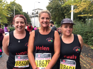 In October 2017 supporters Paula Phillips, Helen Fargie and Lyn Davies  ran in the Cardiff Half Marathon. They raised over £1200 through their determination. Thank you so much ladies.