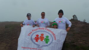 In September 2016 our public fundraising began when a group of very kind volunteers joined Jayne, Jonathan and the family to climb Pen y Fan in the Brecon Beacons in very challenging weather to fundraise towards the cost of putting together our Learning Disability Logo packs.