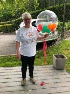 In May 2021, Jayne climbed 102 times up Church hill in Baglan, raising over £4,000!  She walked 137.7 miles, 61.2 of which was uphill so she actually ascended Everest! Thank you to EVERYONE who sponsored her or walked with her in all weathers, from torrential rain to blazing sunshine! We are so grateful.